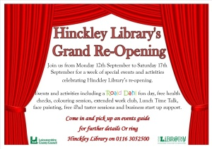 Hinckley re-launch poster and leaflets basic